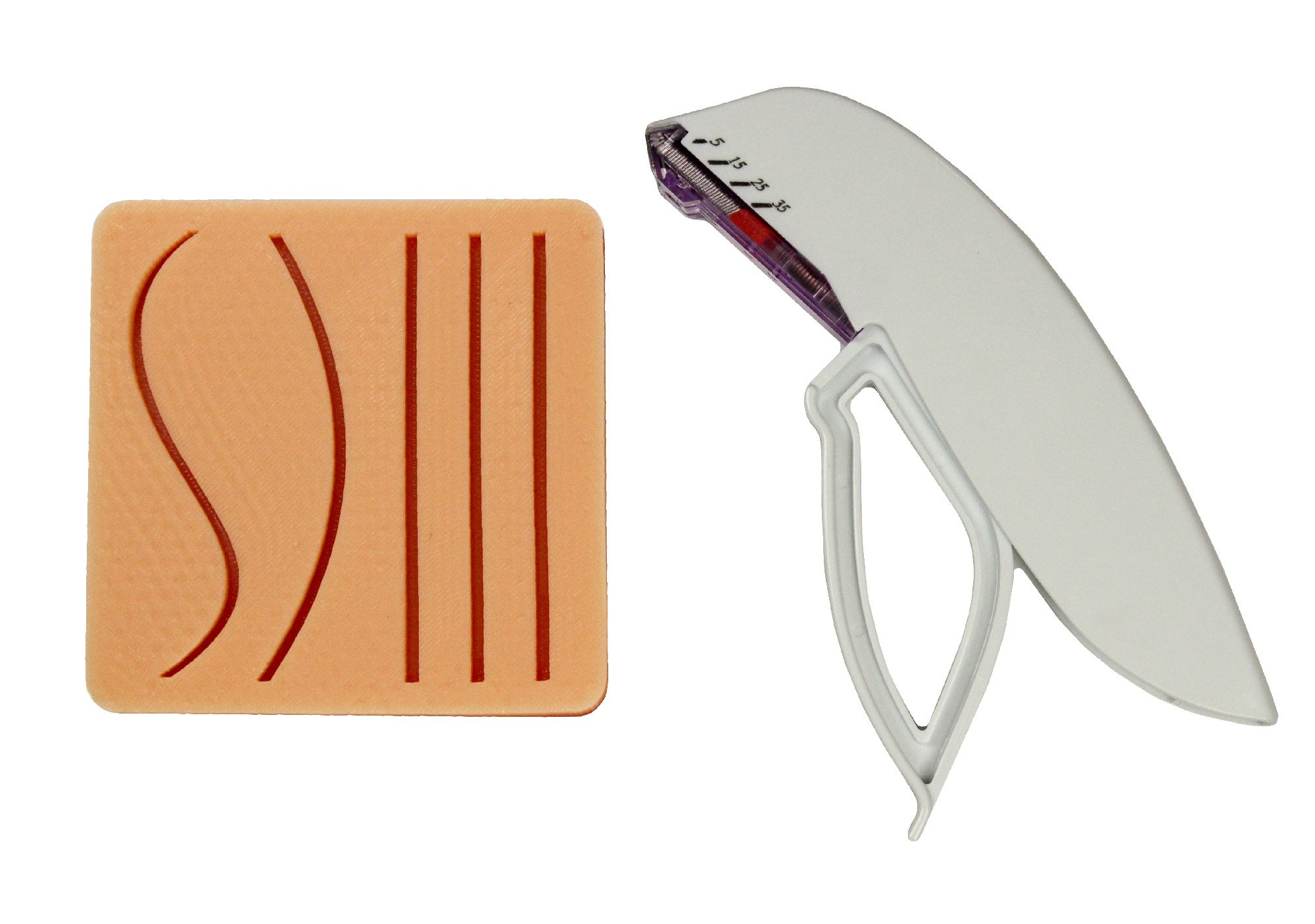 Medium 1-Layer Suture Pad with Practice Training Stapler by Your Design Medical