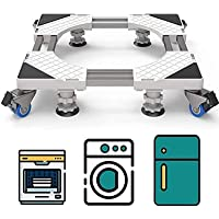 Multi-Functional Pedestal With 4 Wheels & 4 Feet,Adjustable Base Refrigerator Noise Reduction Shockproof Machine Washing…