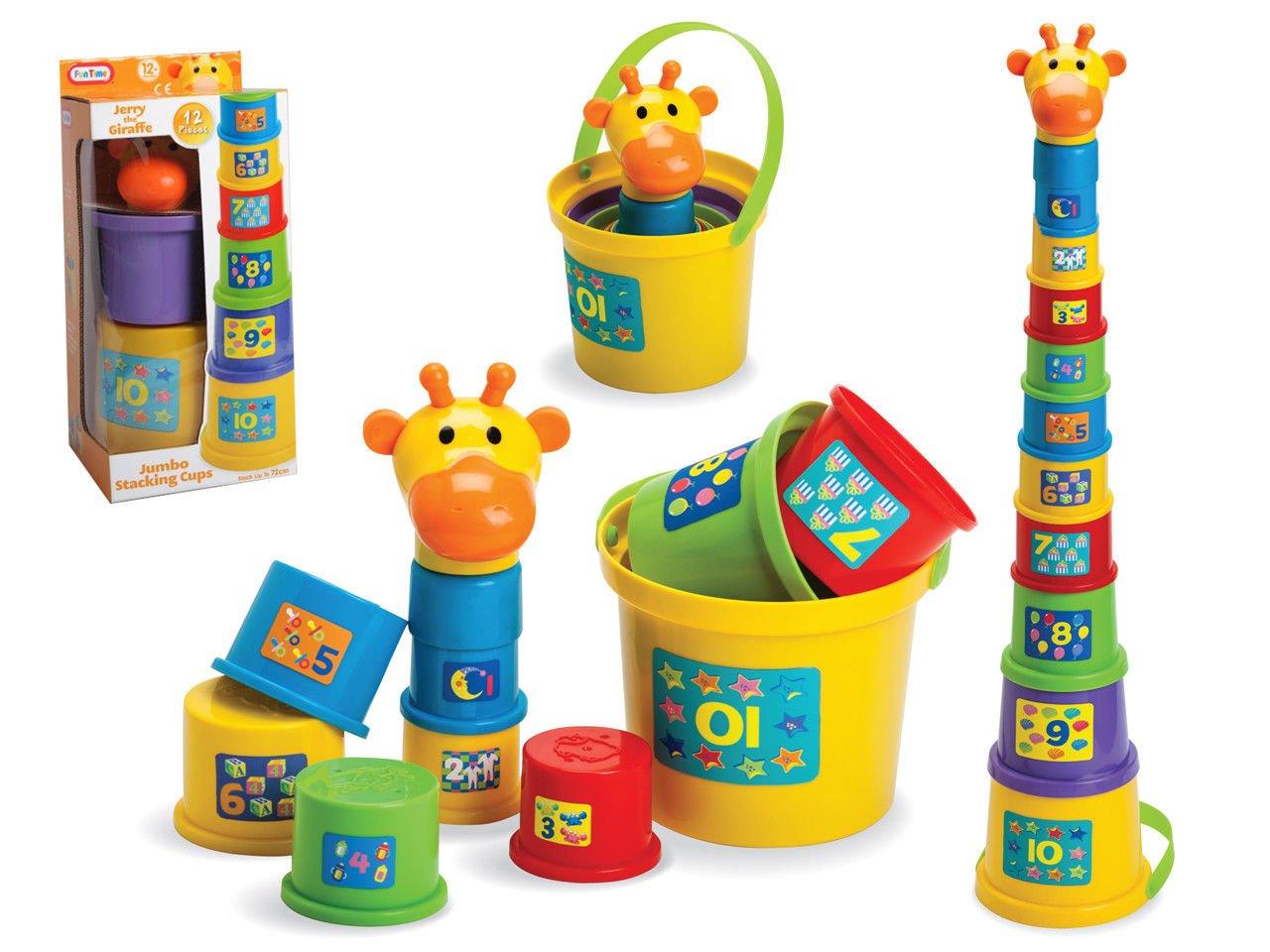 dd3bfa88cbbf Gerry The Giraffe Baby Toddler Stacking Nesting Sorting Cups Blocks ...
