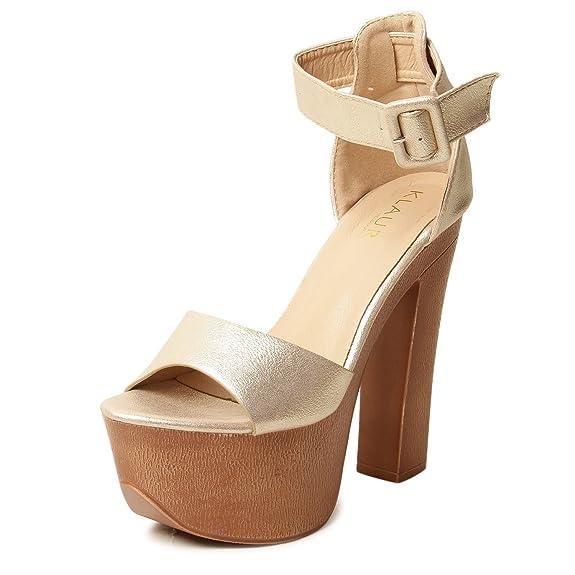 3396df02f92 Klaur Melbourne Women Heels Sandal  Buy Online at Low Prices in India -  Amazon.in