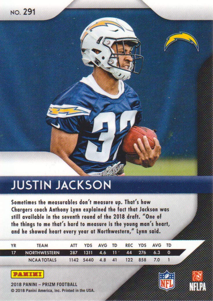 2018 Panini Prizm Football  291 Justin Jackson RC Los Angeles Chargers at  Amazon s Sports Collectibles Store 816c11a7a