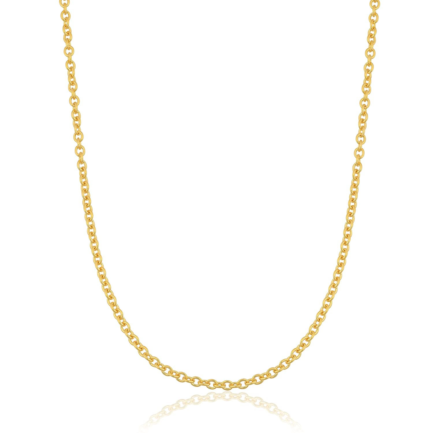 16, 18, 20, 22, 24 or 30 inch Kooljewelry 14k Yellow Gold Filled 1.1 mm Open Cable Chain Necklace