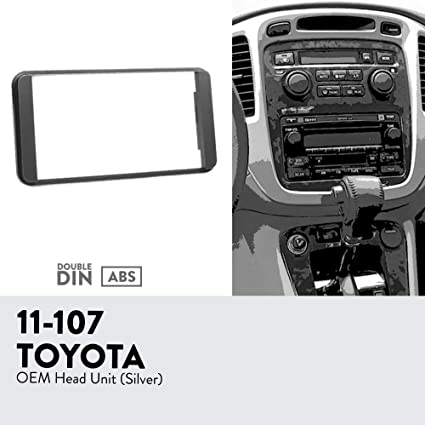 Double Din Stereo Radio Install Mount Dash Trim Kit for 2003-2008 Honda Pilot
