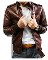 Noora Men's 100% Pure Leather Jacket Slim Fit(CUSTOM MADE LEATHER JACKET)