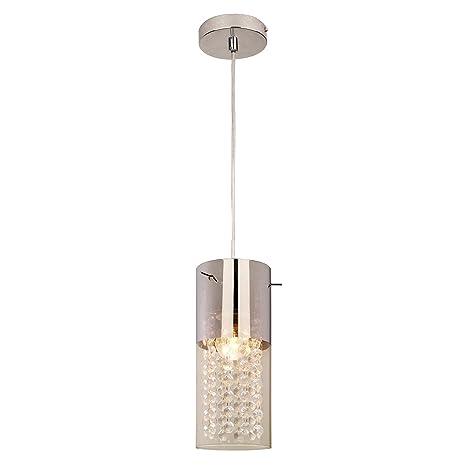 Light Prestige Zara 1 - Lámpara de techo, cristal, E27, 60 W ...