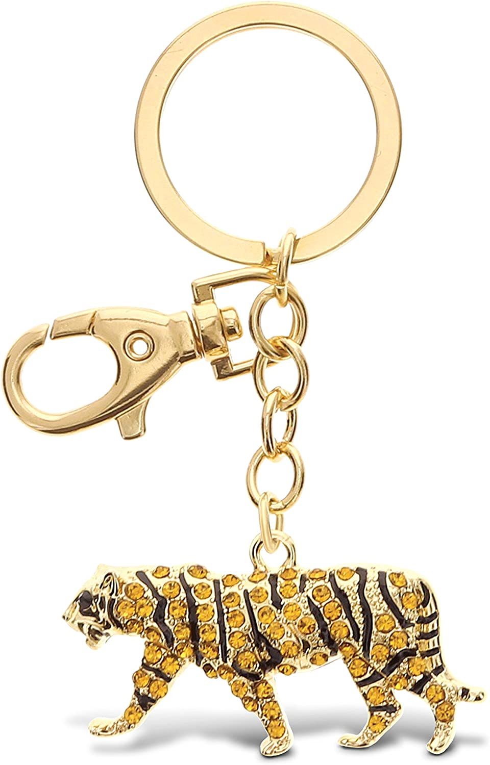 2pcs Charm Animal Women Bag Purse Pendant Key Chain Ring Keyring Metal Key Chain