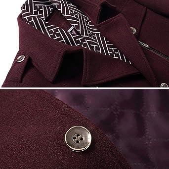 Nidicus Mens Classic Fit Mid-Long Walker Coat Thick Warm Blazer Jacket Winter