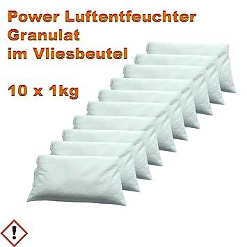 10 X 1 Kg Luftentfeuchter Granulat Im Vliesbeutel Keller Trockner