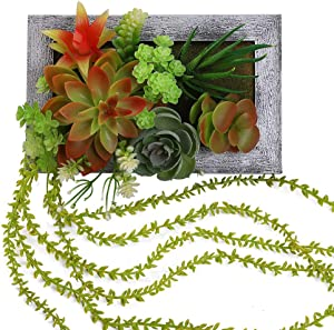 LingRenDu Succulents Plants Live Wall Decor,Artificial Plants Wall Decor,Fake Succulent,Plants Home Decor
