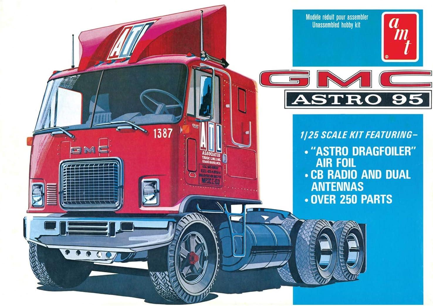 AMT 591140 1//25 GMC Astro 95 Semi Tractor Modellbausatz verschieden
