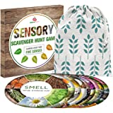 Outdoor Games - Sensory Scavenger Hunt Game for Kids - Indoor Outside Nature Card Games for Family Toddlers Teens Ages 3-6 4-8 8-12