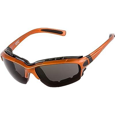 WYND Blocker Motorcycle Riding Glasses Extreme Sports Wrap Sunglasses, Orange, Smoke: Clothing