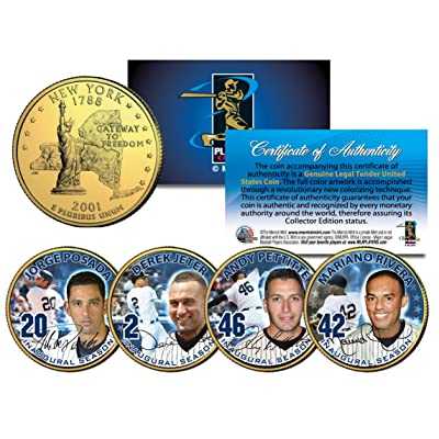 YANKEES CORE FOUR Statehood NY Quarters 4-Coin Set JETER MARIANO POSADA PETTITTE: Everything Else