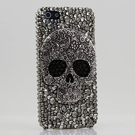 buy online e4945 4d7c5 iPhone 6S Bling Case, iPhone 6 Case - LUXADDICTION® [Premium Quality] 3D  Handmade Crystallized Bling Case Swarovski Crystals Diamond Sparkle Large  ...
