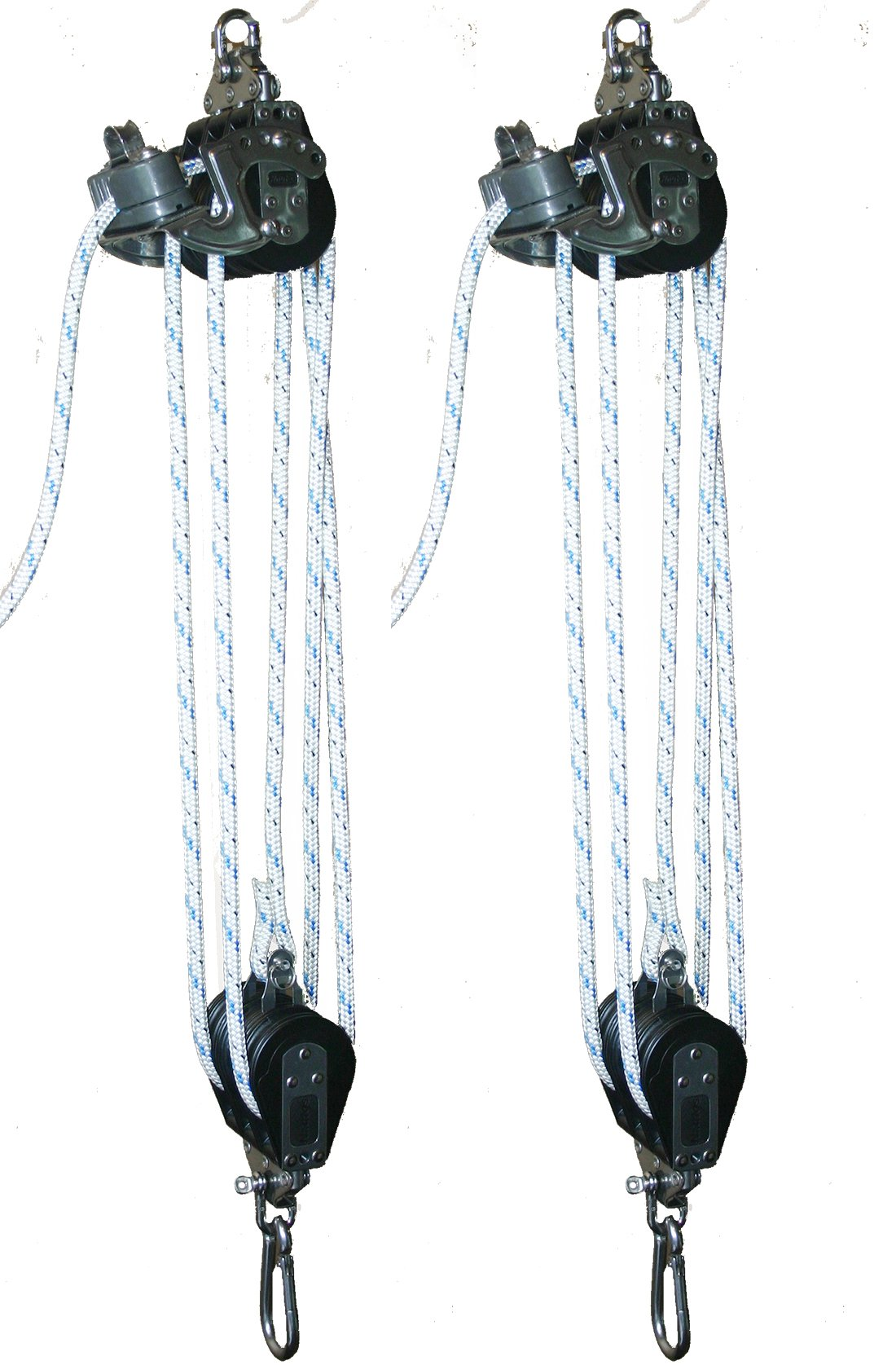 BL004 - MEDIUM BOAT LIFT TACKLE WITH CAM CLEAT AND 3/8'' ROPE INCLUDED