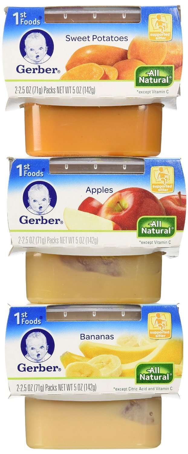 Gerber 1st Foods Assorted Fruits and Vegetables, 18-2 Ounce Packs by Gerber