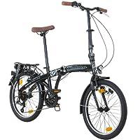 20 Zoll Galano Park Lane Camping Klapp Fahrrad 6 Gang Shimano Licht