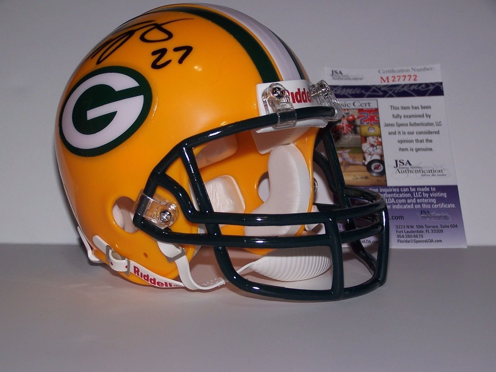 Eddie Lacy Autographed Signed Green Bay Packers Mini Helmet JSA Certified Ticket