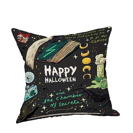 País Fox Halloween calabaza Espacio algodón Lino decorativo ...