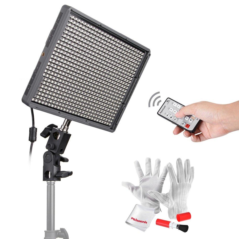 Aputure HR672C High CRI LED Video Light Wireless Remote Control Panel Digital Camera LED Light 3200K to 5500K for Canon, Nikon, Pentax, Panasonic, Sony, Samsung and Olympus Digital SLR Cameras