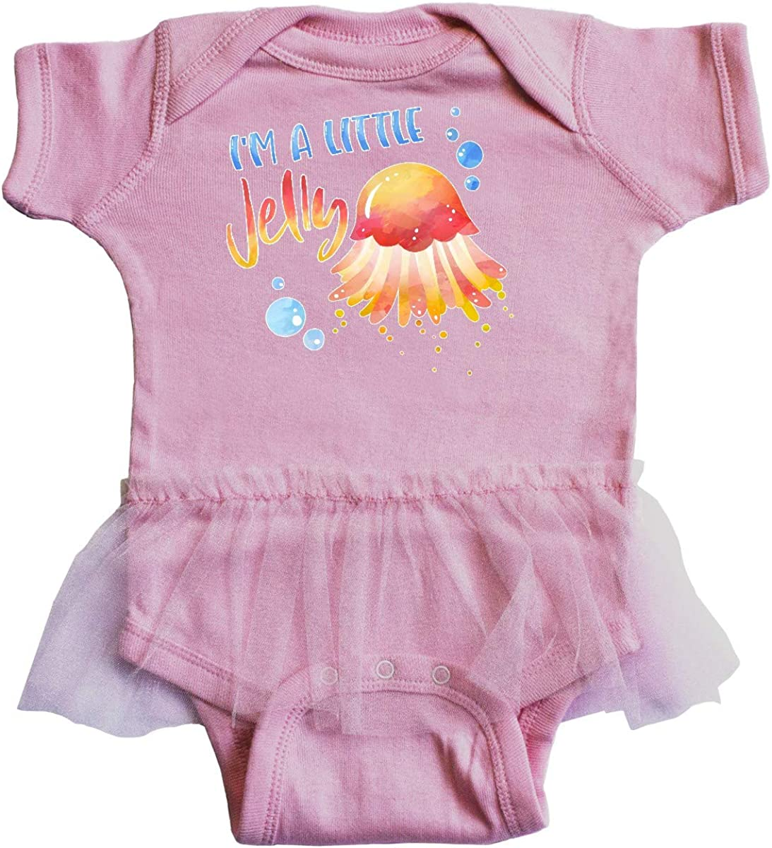 inktastic Im a Little Jelly Jellyfish Humor with Bubbles Infant Tutu Bodysuit