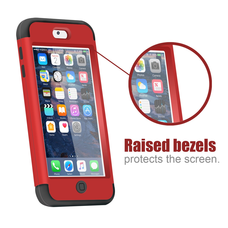 Prueba de Polvo Prueba de choques Carcasa H/íbrido de 3 Capas de Silicona Resistente Cubierta Dura para iPod Touch 5ta//6ta Generaci/ón-Oro Rosa Dailylux Funda iPod Touch 5,Funda iPod Touch 6