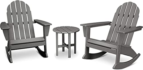 Vineyard 3-Piece Adirondack Set Slate Grey
