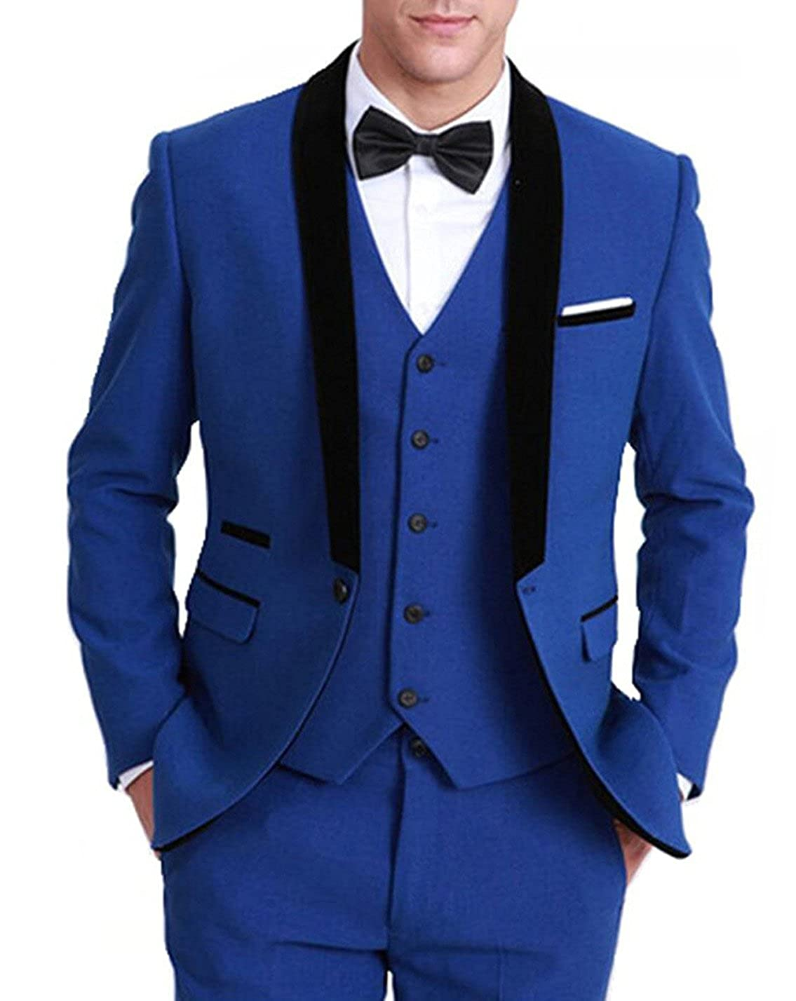 Fitty Lell Mens Suit Tuxedo Latest Three Pieces Groom Formal Suits Men Clothing
