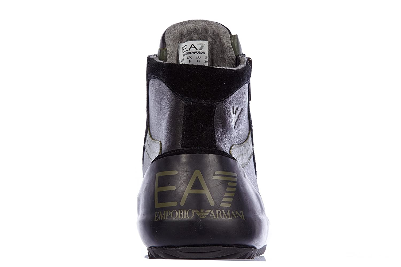 EA7 Emporio Armani Scarpe Paire de chaussures montantes pour homme en cuir  Noir - - Noir   militaire, 43 1 3 EU  Amazon.fr  Chaussures et Sacs 1063830c0e09