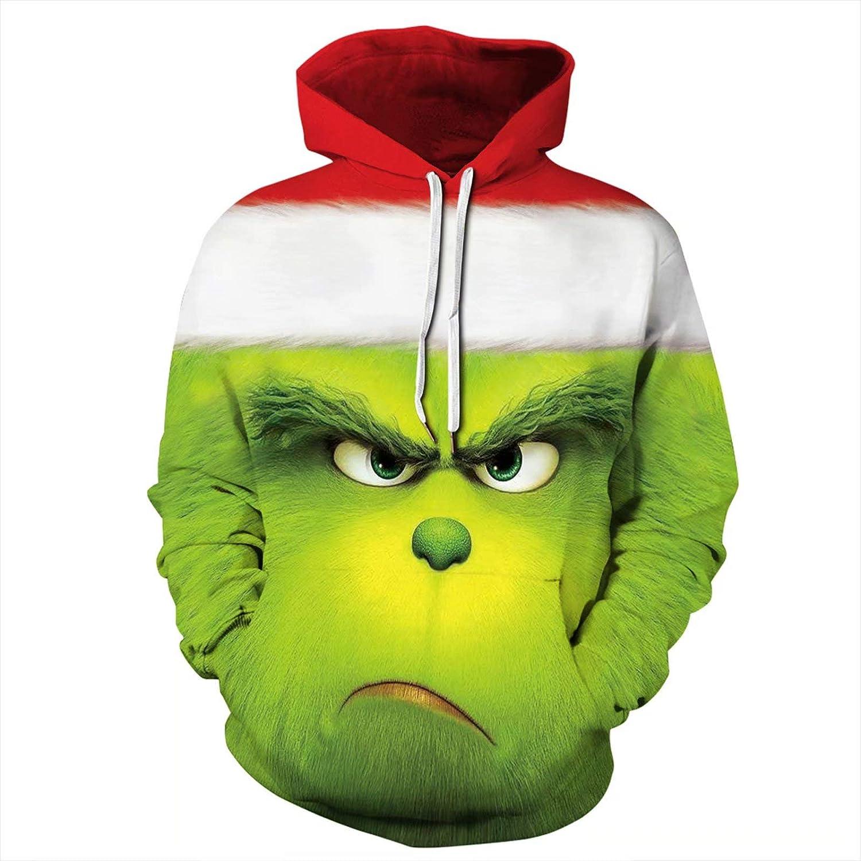 El Grinch Disfraz de Sudadera con Estampado 3D para niños niñas ...