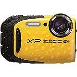 """Fujifilm FinePix XP80 - Cámara digital compacta de 16.4 MP (sensor CMOS, pantalla de 2.7"""", zoom óptico 5x, gran angular 28 mm, ISO 6400, estabilizador de imagen), color amarillo"""