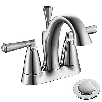 Enzo Rodi Lead Free Brass 4 Inch Center Set Bathroom Sink Faucet