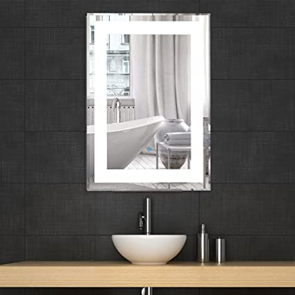 Decoraport LED Bathroom Silvered Mirror Vanity Lighted Illuminated
