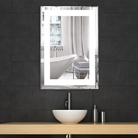 Decoraport LED Bathroom Silvered Mirror Vanity Lighted Illuminated Mirror  with Touch Switch / LED salle de bains Silvered Miroir Vanity Lighted ...