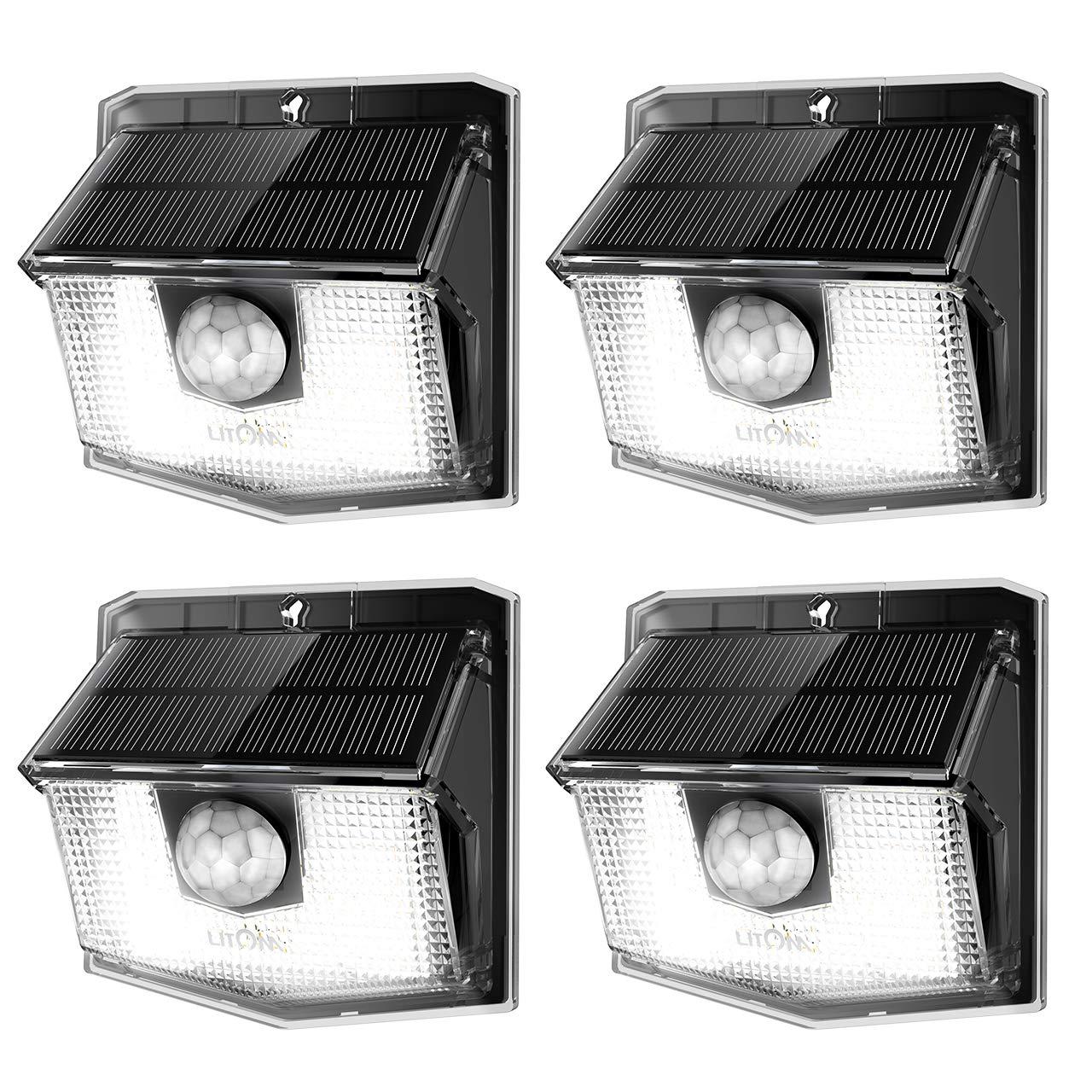 Litom Lite 30 Led Solar Lights Outdoor Wireless Easy To