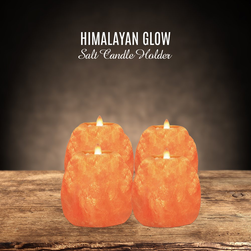 each 1.5 lbs. Home D/écor 3.5 Inches Height Natural Style Himalayan Pink Salt Rock 1 Hole Tealight Candle Holder WBM 3002C Himalayan Glow Natural Himalayan Pink Salt Candle Holder