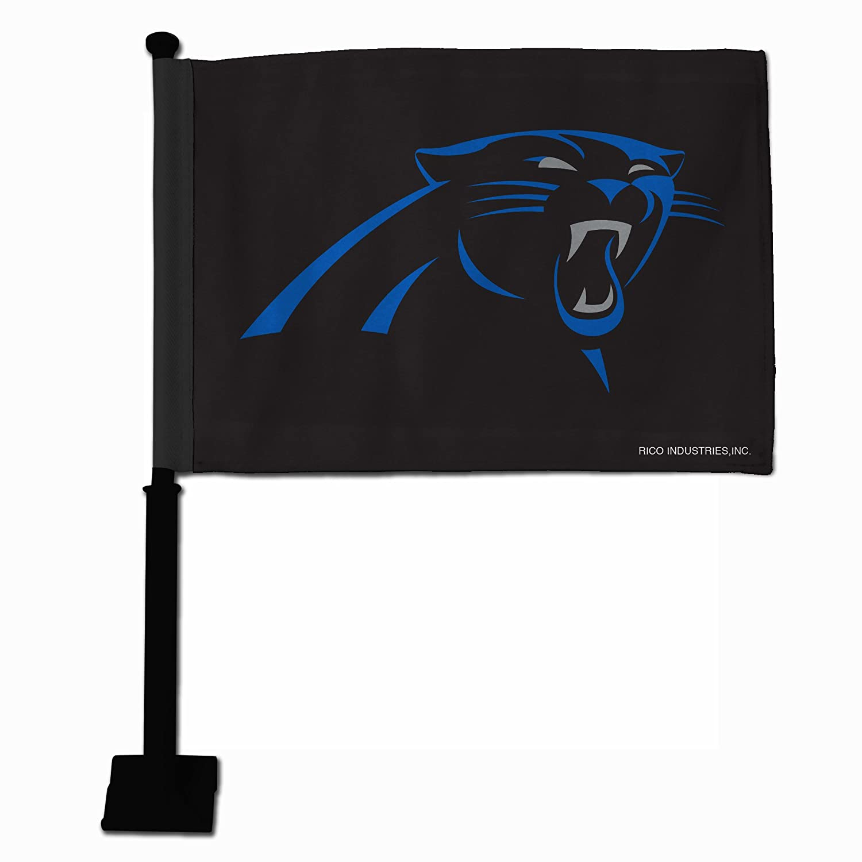Rico NFL Carolina Panthers Car Flag with Black Pole FGK0803