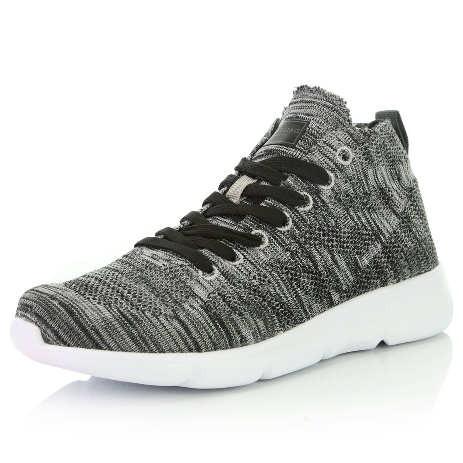 DailyShoes Women's Breathable Mesh Lightweight Casual Fashion Sneakers Walking Shoes, Grey Mesh, 8.5 B(M) US