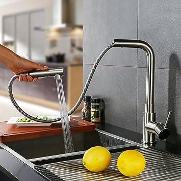 Homelody Küchenarmatur mit Ausziehbar Brause Wasserhahn Küche ...