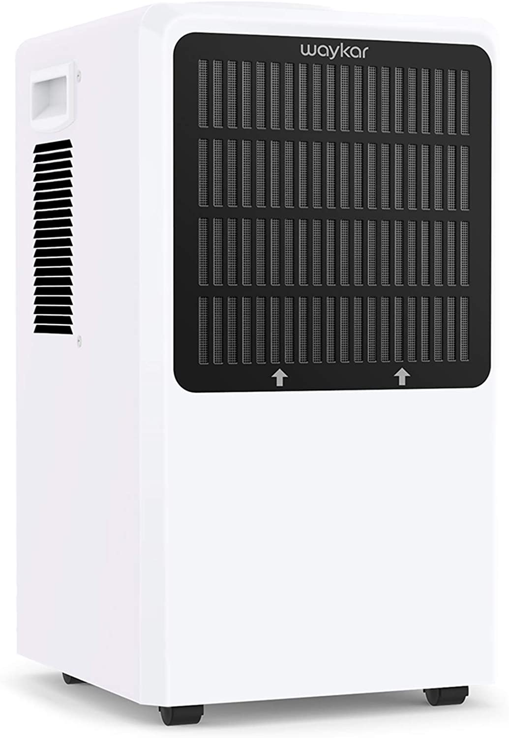 Waykar Commercial Dehumidifier 130 Pint ,with Drain Hose for Home Basements Whole house , Drying Moisture in Large Space Up to 6,000 sq. ft.