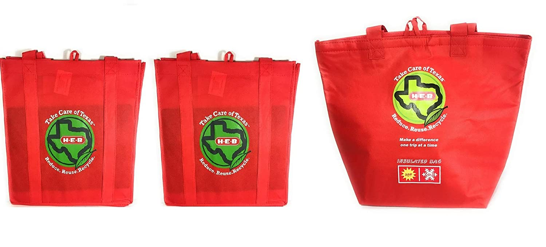 【予約販売品】 HEB 断熱 断熱 再利用可能 B07MM2VZ2R 食料品バッグ 食料品バッグ 再利用可能な布製バッグ2枚付き B07MM2VZ2R, セッツシ:9297230f --- arianechie.dominiotemporario.com