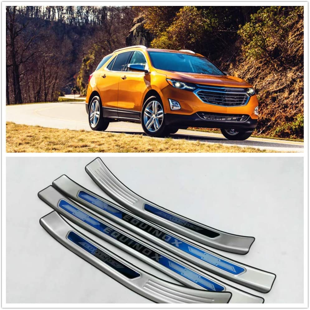 Chrome Door Sill Scuff Guard Plate Protector For Chevrolet Trax 2016 2017 2018
