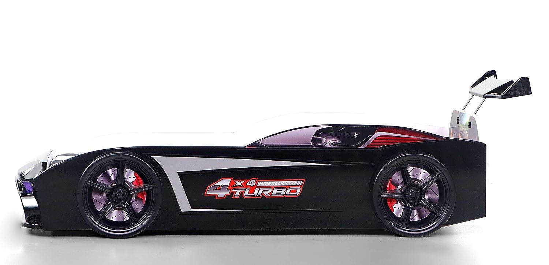 Kinder Autobett GT18 Turbo 4x4 in Rot 90 x 190 cm mit LED Beleuchtung