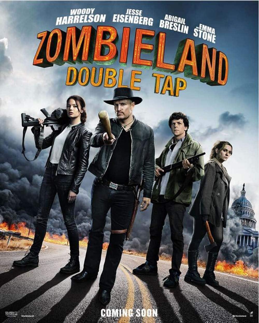 Tomorrow sunny Zombieland Double Tap 2019 Movie Poster Art Print (8)