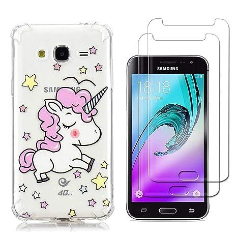 Funda Samsung Galaxy J3 2016 Unicornio Rosado Suave TPU ...