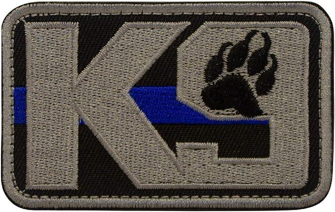 Cobra Tactical Solutions K9 Thin Blue Line Perro policía Parche Bordado Táctico Moral Militar con Cinta adherente de Airsoft Paintball para Ropa de Mochila Táctica: Amazon.es: Hogar