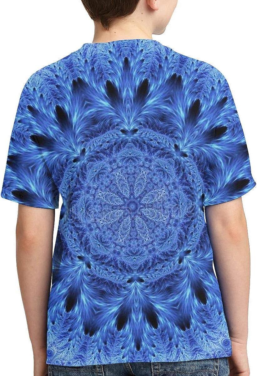 Snowflake Kaleidoscope Kids Print Graphic Tee Short Sleeve T-Shirt