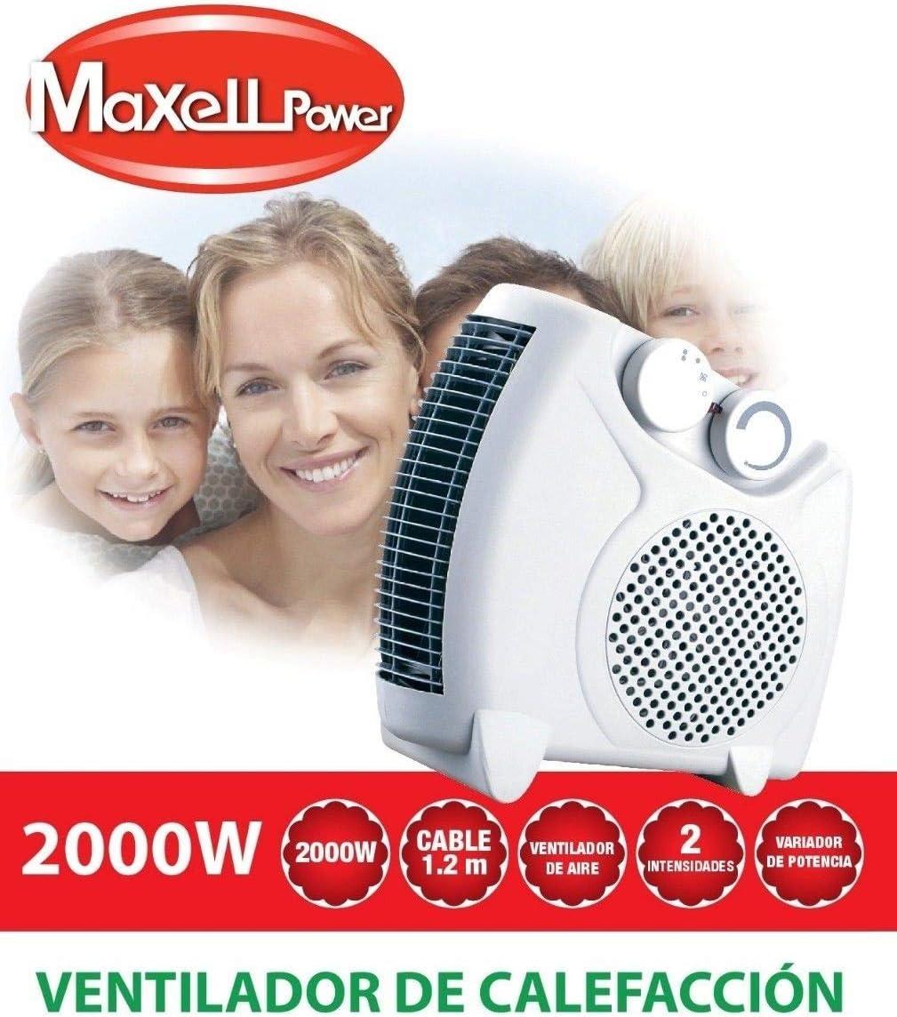 MAXELLPOWER Calefactor ELECTRICO Ventilador DE Aire Calor Caliente ...