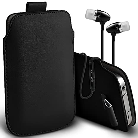 buy online bd8e2 32f54 ( Black + Ear phone ) Sim Free Argos Alba Mobile Phone Case Premium Stylish  Faux Leather Pull Tab Pouch Skin Case Cover Various Colours To Choose From  ...