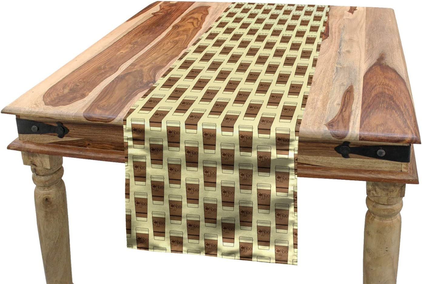 Amazon Com Ambesonne Coffee Table Runner Illustration Of Take